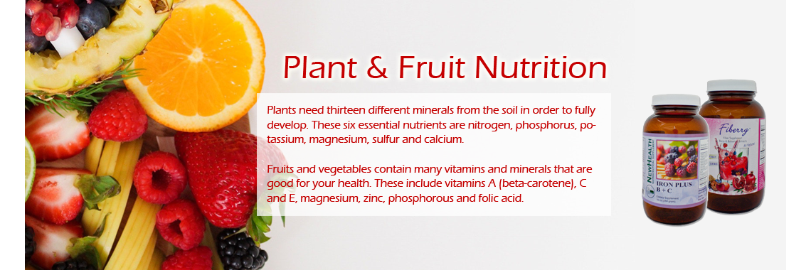 Fruits and Plant Nutrition